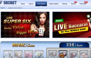 Cara Main Royal Suite dan 338 Suite Live Casino di Sbobet
