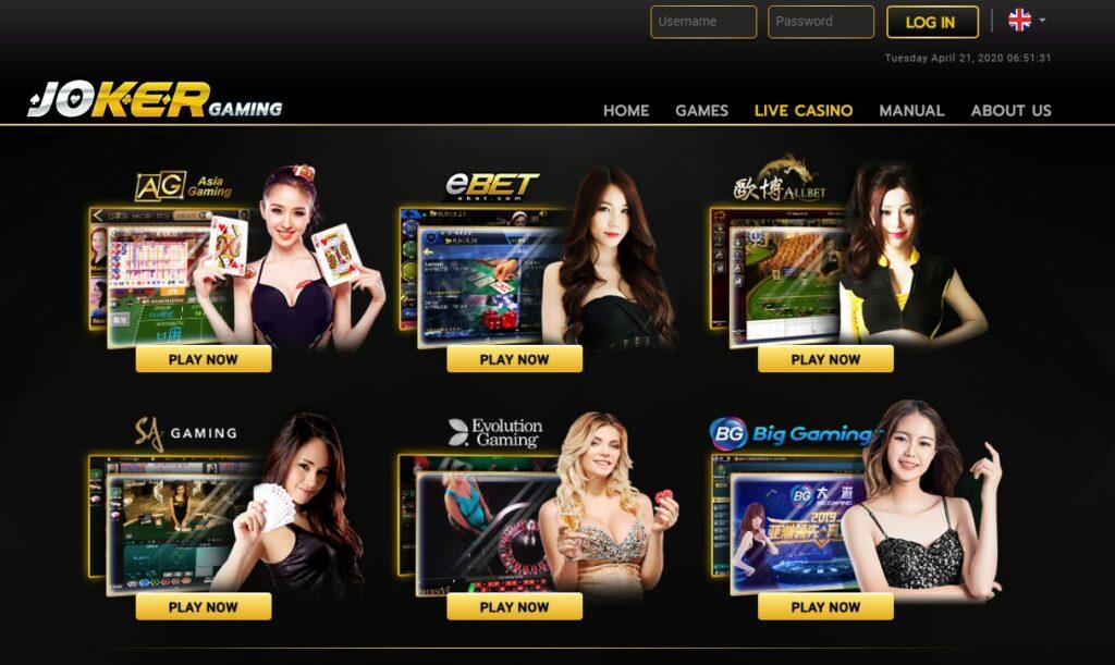 Judi Live Casino Joker123